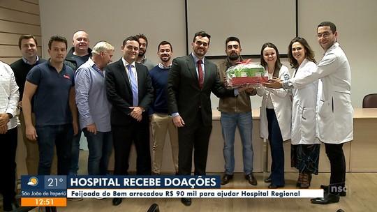Hospital recebe doações da Feijoada do Bem