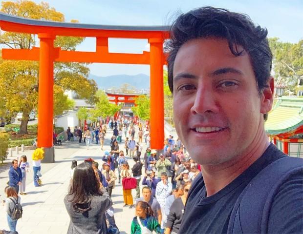 Bruno De Luca abre álbum de viagem ao Japão (Foto: Reprodução/Instagram)