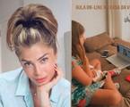 Grazi Massafera mostra Sophia na aula on-line | Reprodução