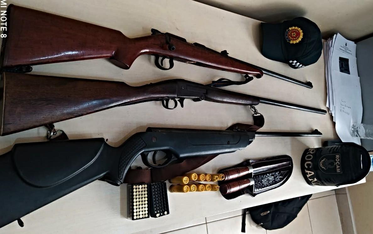 Dupla é presa por posse ilegal de arma de fogo e crime contra a fauna em Redenção, no Pará