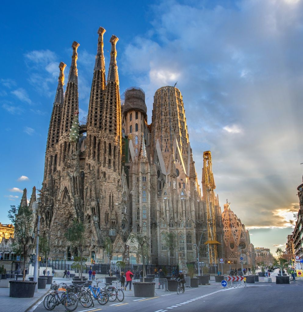 Spain, Catalunya, Barcelona City, Sagrada Familia Temple, Gaudi, (Photo by: Prisma by Dukas/Universal Images Group via Getty Images) (Foto: Universal Images Group via Getty)