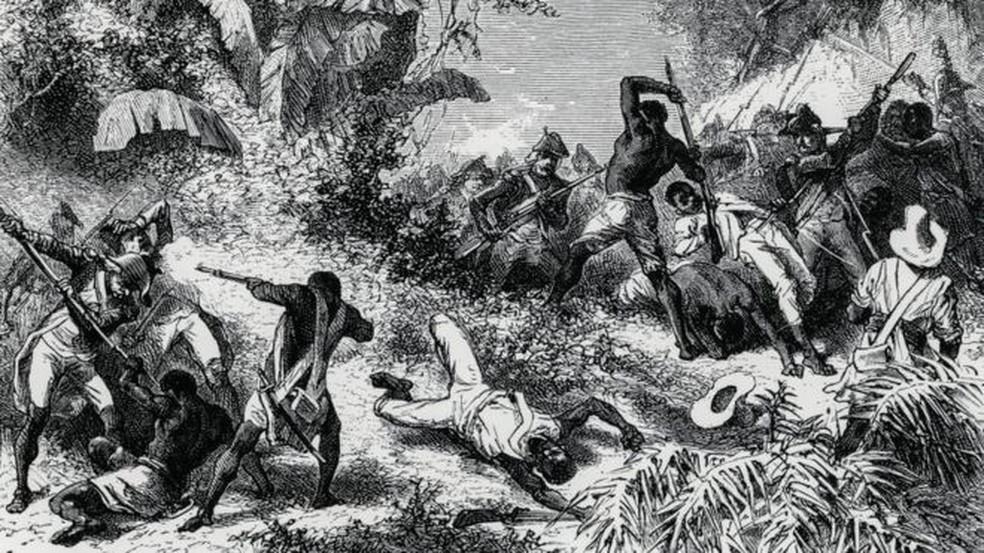 A revolta dos escravos haitianos deu início a eventos que alteraram para sempre a geopolítica mundial — Foto: Getty Images/BBC