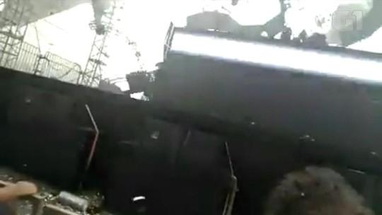 VÍDEO: palco desaba em festa rave e mata DJ no RS
