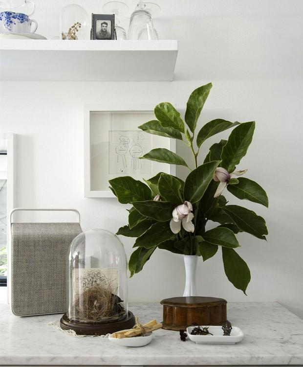 Os detalhes da decoração seguem o minimalismo da arquitetura (Foto: Indecora/ Reprodução)