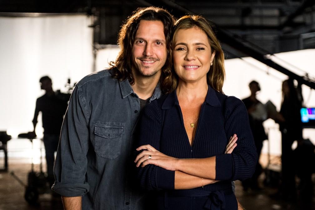 Adriana Esteves e Vladimir Brichta estrelam a campanha da Ação Global 2017 — Foto: TV Globo/Raquel Cunha
