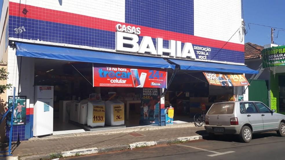 Unidade da rede Casas Bahia de São Pedro foi alvo de furto — Foto: Daniela Oliveira