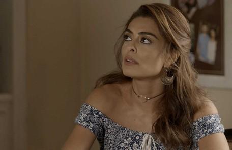Juliana Paes é Bibi. Mulher de Rubinho (Emilio Dantas) e mãe de Dedé (João Bravo), ela largou os estudos para ajudar a sustentar a família Reprodução