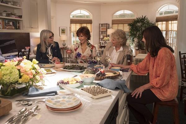 Diane Keaton, Jane Fonda, Candice Bergen e Mary Steenburgen em Do Jeito que Elas Querem (2018) (Foto: Divulgação)