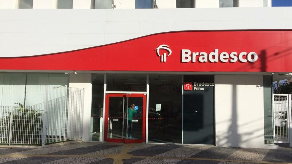 Agência do banco Bradesco (Foto: Alex DePaula/G1)