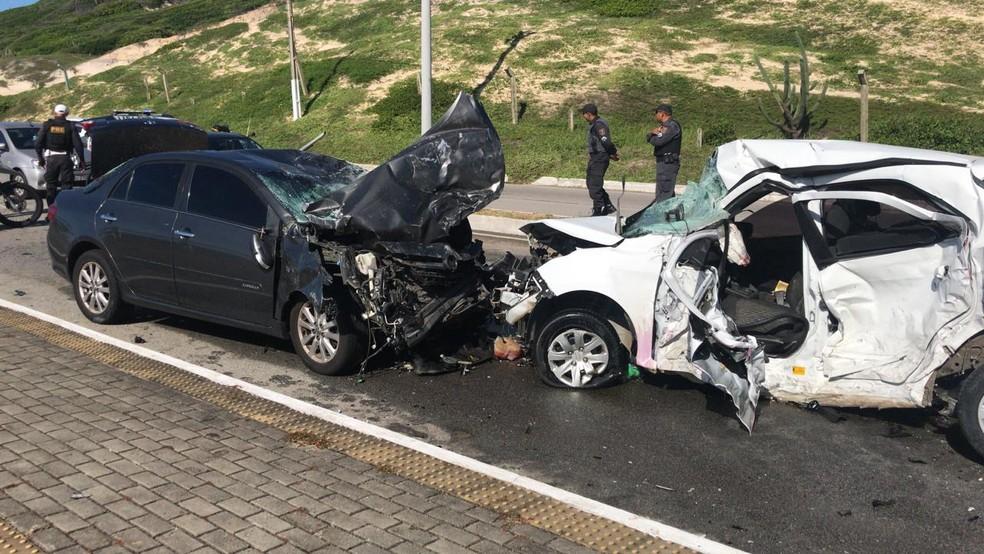 Acidente aconteceu na Via Costeira, em Natal (Foto: Italo Di Lucena/Inter TV Cabugi)