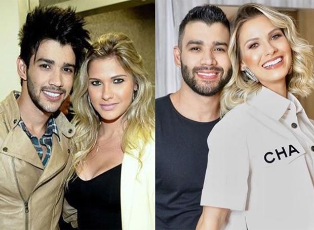 Antes e depois de Gusttavo Lima e Andressa Suita (Foto: Reprodução/Instagram)