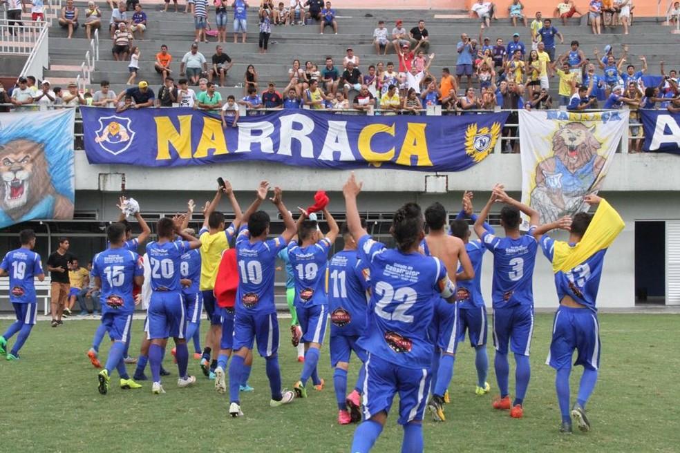 Nacional empatou com o Rio Negro e se classificou à final do Amazonense Juvenil (Foto: Arlesson Sicsú/NacionalFC)