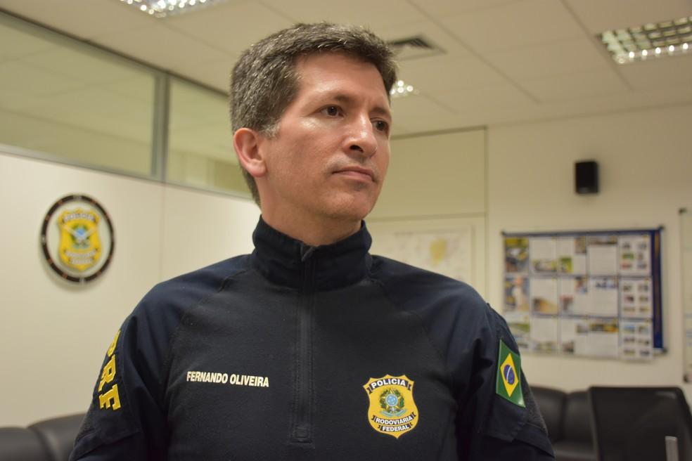 Fernando Oliveira, de 41 anos, é policial rodoviário federal há sete anos e meio — Foto: Arquivo pessoal