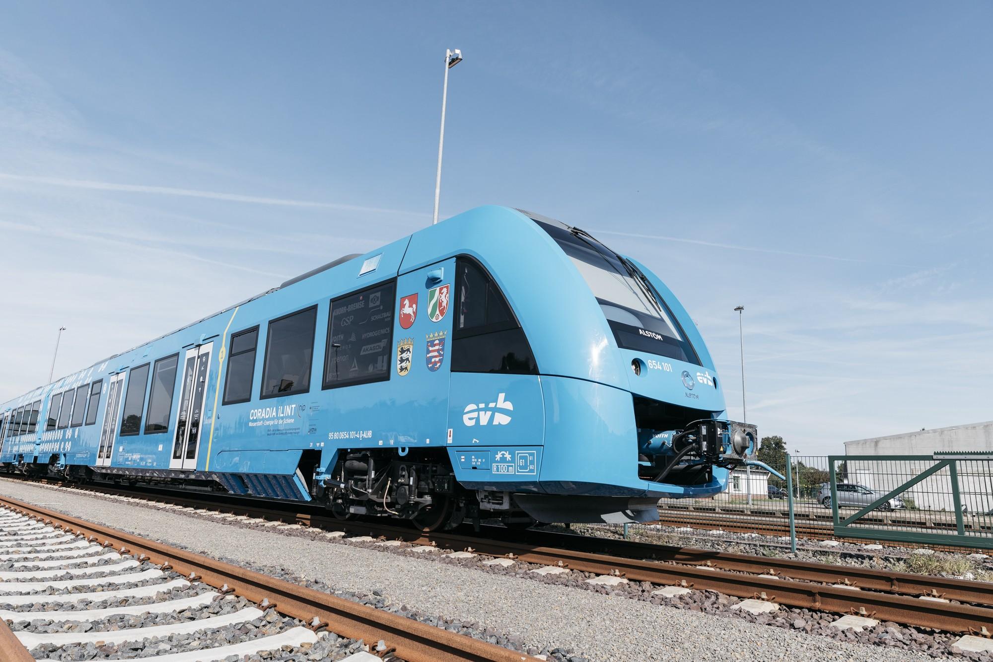 Primeiro trem comercial movido a hidrogênio. (Foto: Divulgação / Alston)