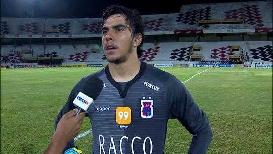 """Richard comenta empate do Paraná: """" Erramos muito e não fizemos boa partida"""""""