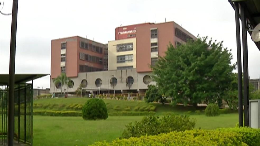 Letícia estava internada no Hospital Santa Marcelina, em Itaquaquecetuba — Foto: Reprodução/TV Diário