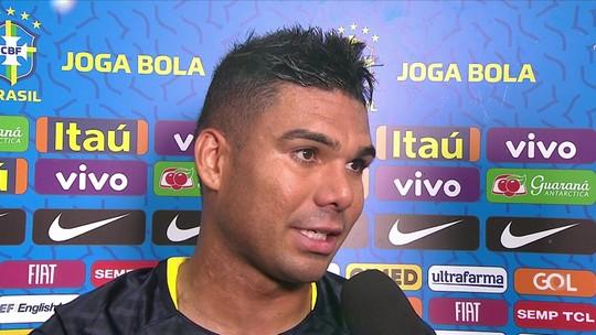 """Casemiro comenta confusão com Sánchez: """"Pessoal vem jogar contra o Brasil e quer intimidar"""""""