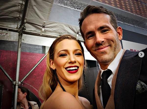 A atriz Blake Lively e o marido, o ator Ryan Reynolds (Foto: Instagram)