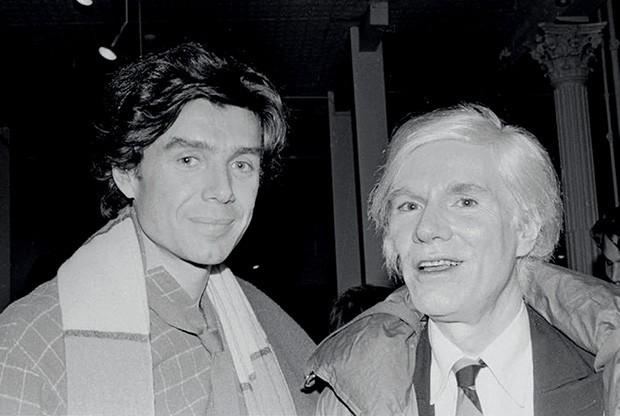 Bernstein com Andy Warhol (Foto: Divulgação)