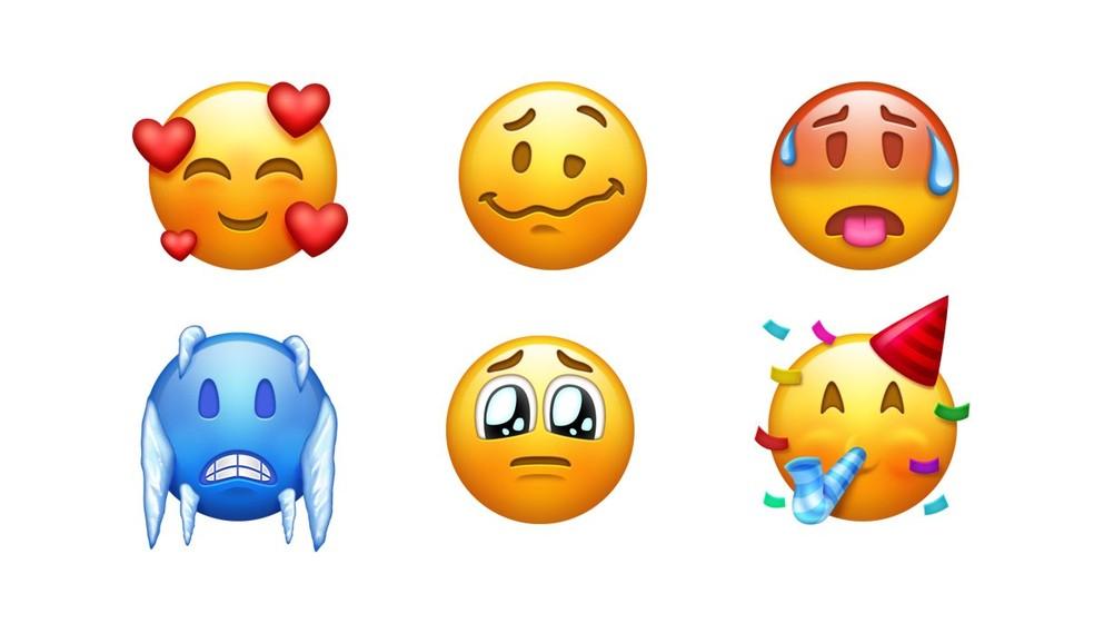 Emojis representarão emoções de amor, muito firo, muito calor e outros (Foto: Reprodução/Emojipedia)