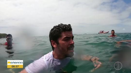 """""""Vai Encarar?"""" passa por treino com guarda-vidas de Cabo Frio e mostra desafios dos heróis do mar"""