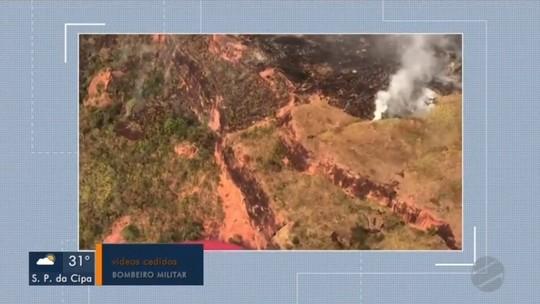 Fogo já atingiu 4 mil hectares da Serra da Petrovina