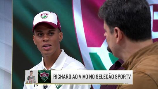 """Richard almeja título da Copa Sul-Americana: """"Gravar nosso nome no Fluminense"""""""