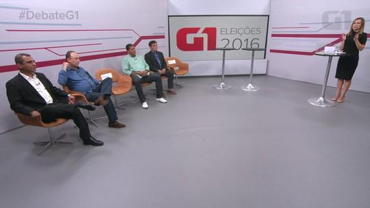 Candidatos a prefeito de São Gonçalo, RJ, participam de debate no G1