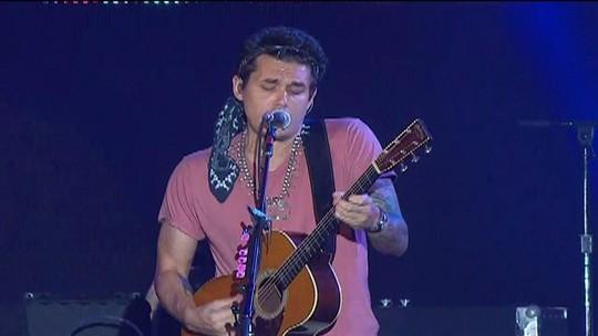 John Mayer abre show com 'No such thing'