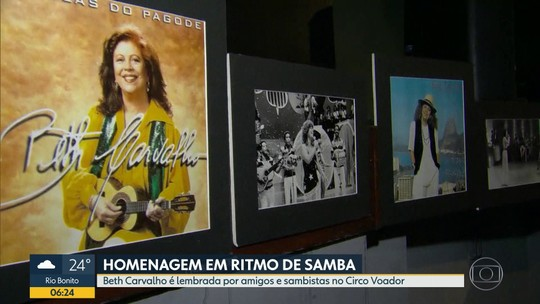 Beth Carvalho é homenageada com samba no Circo Voador