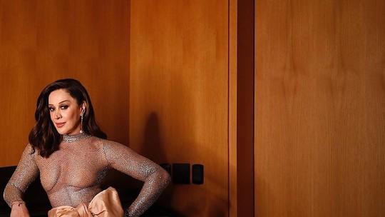 Claudia Raia arrasa na final do 'Show dos Famosos' de macacão bordado com 70 mil cristais