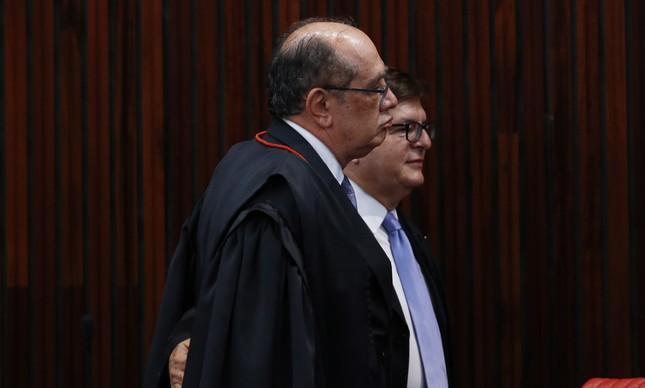 Os ministros Gilmar Mendes e Herman Benjamin