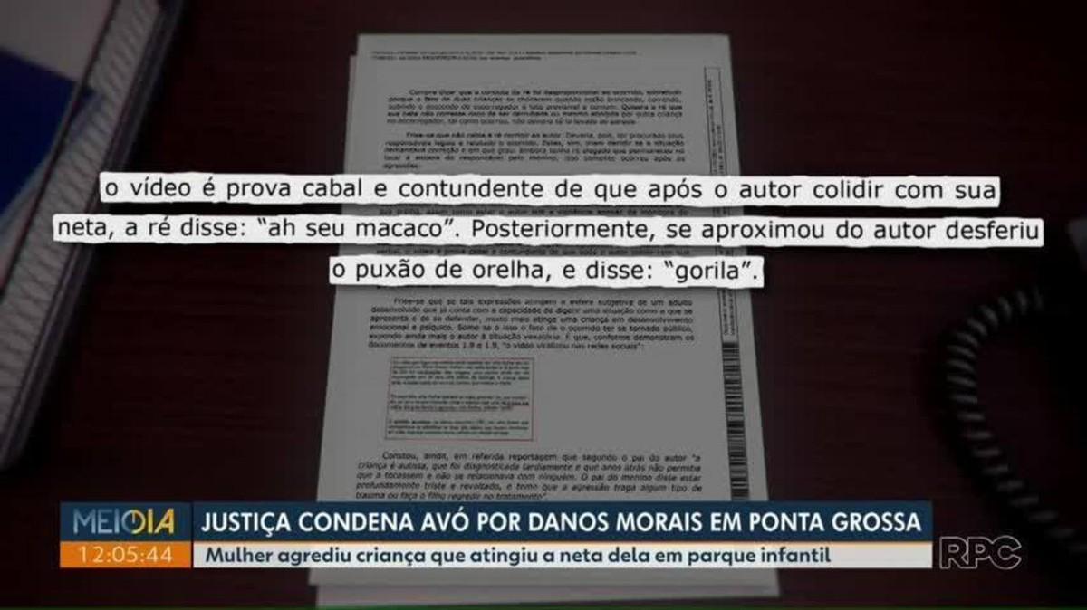 Justiça condena por danos morais mulher que chamou criança de 'macaco' e 'gorila', em Ponta Grossa