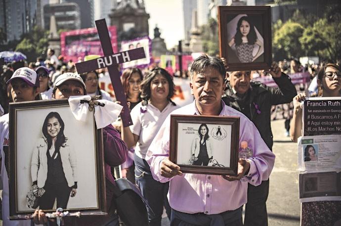 Protesto contra violência no México (Foto: Ronaldo Schemidt / AFP / Getty Images)