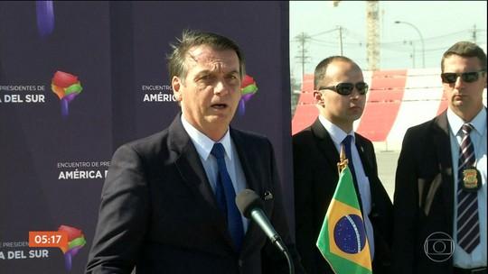 Bolsonaro discute no Chile a criação de fórum para substituir Unasul