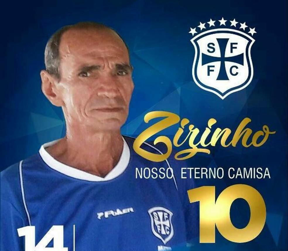 Zizinho, ex-jogador do São Francisco — Foto: Ascom/São Francisco
