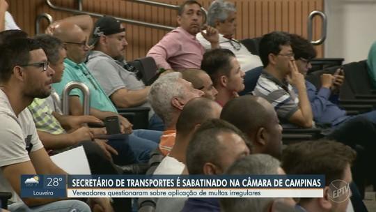 Secretário de Transportes cita situações de risco para justificar aplicação indevida de multas em Campinas