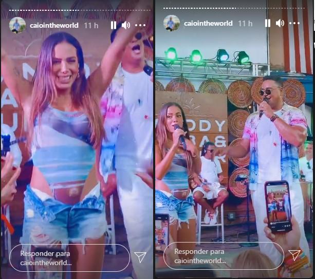 Anitta e Xanddy dividem palco na Flórida (Foto: Reprodução)