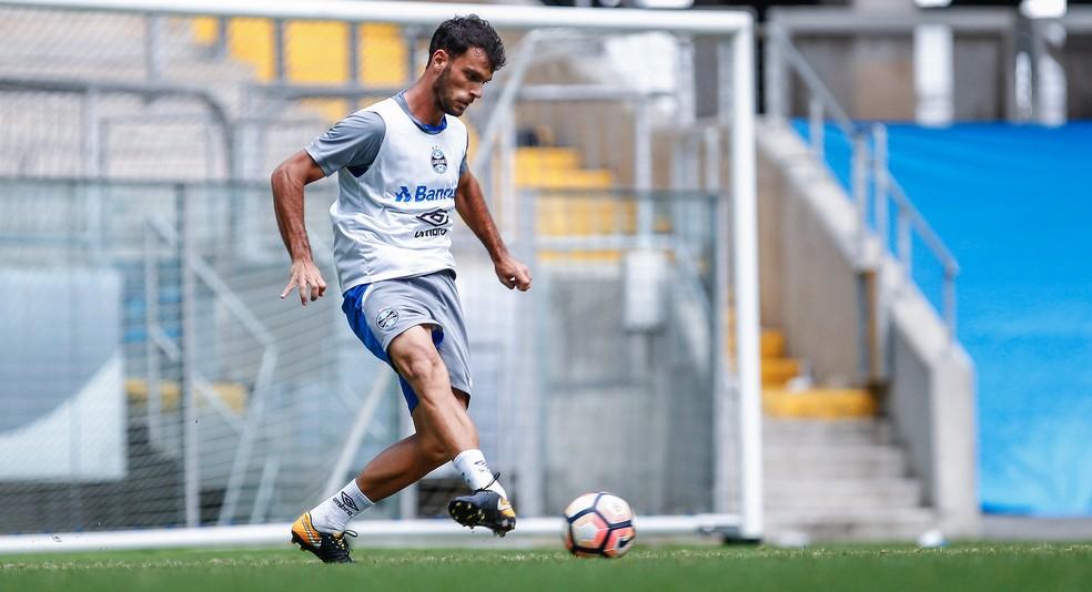 Rafael Thyere fez mais jogos neste ano desde que subiu para o profissional em 2013 (Foto: Lucas Uebel/Divulgação/Grêmio)