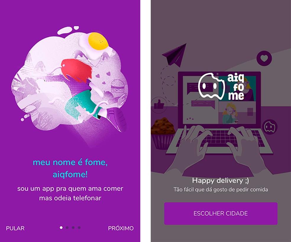 O AiQFome usa linguagem jovem e se aproxima do cliente — Foto: Reprodução/Luana Antunes