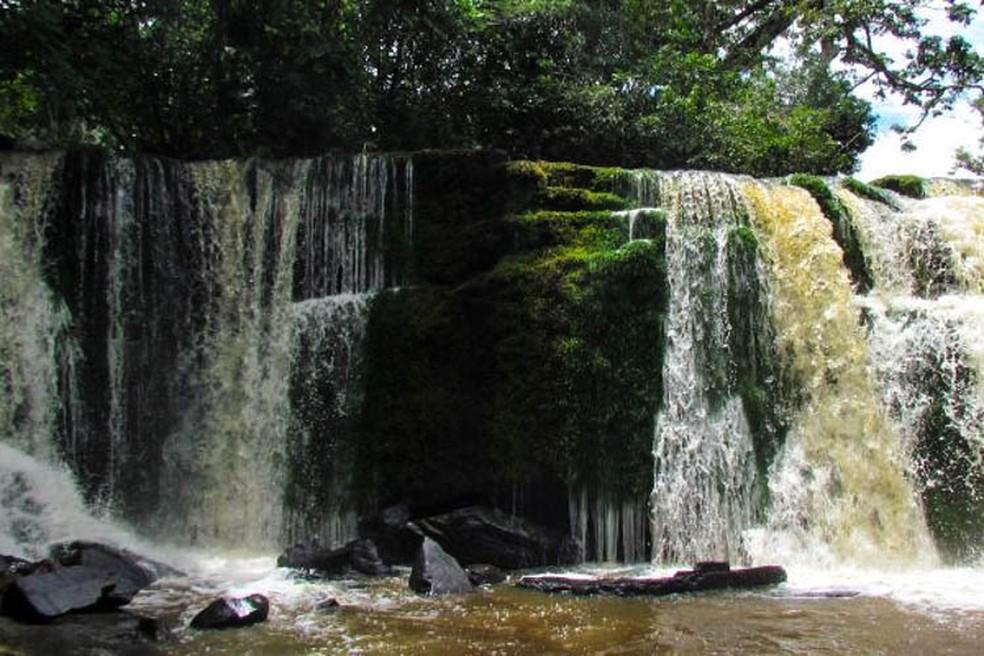 Cachoeira do Pedral em Monte Alegre faz parte da Área de Proteção Ambiental Paytuna que será visitada no domingo — Foto: Reprodução/Imazon