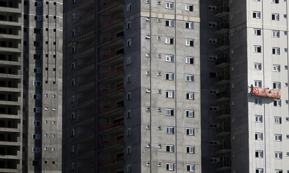 Imóvel em construção em São Paulo — Foto:  REUTERS/Nacho Doce