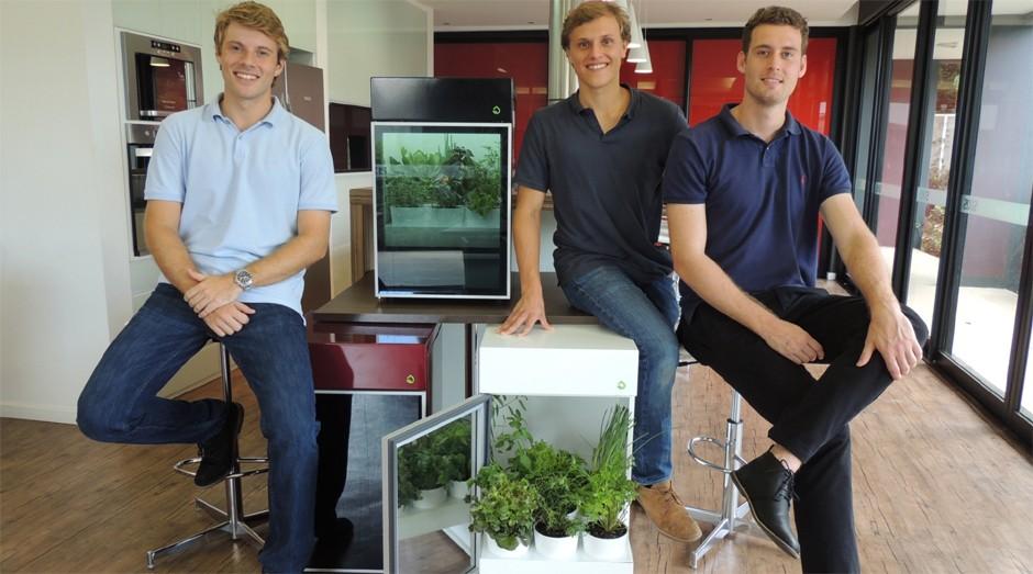 Bernardo Mattioda, Thomas Kollmann e George Haeffner, fundadores da Plantário (Foto: Divulgação)
