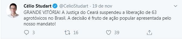 Tweet_studart (Foto: Reprodução/Twitter)