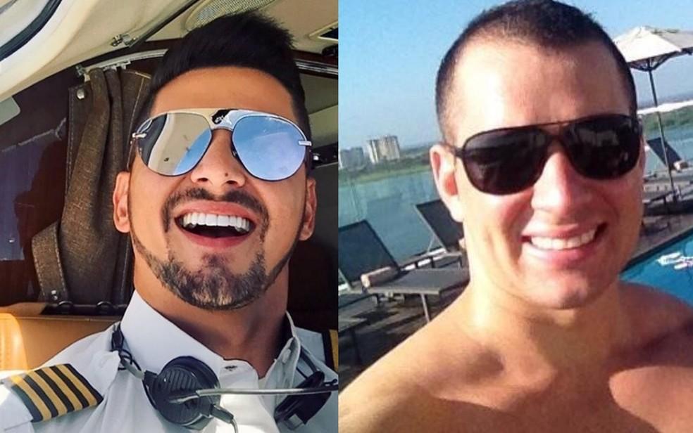 Cristiano Rocha e Robson Cintra sobreviveram À queda dO avião (Foto: Reprodução/Facebook)
