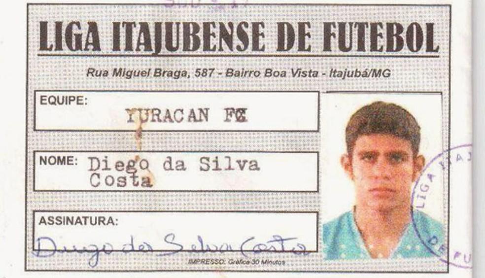 Diego Costa jogou pelo Yuracan em 2004 — Foto: Arquivo Yuracan