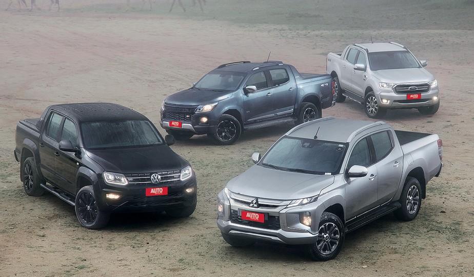 Comparativo de picapes: Mitsubishi L200, Volkswagen Amarok V6, Chevolet S10 e Ford Ranger se enfrentam