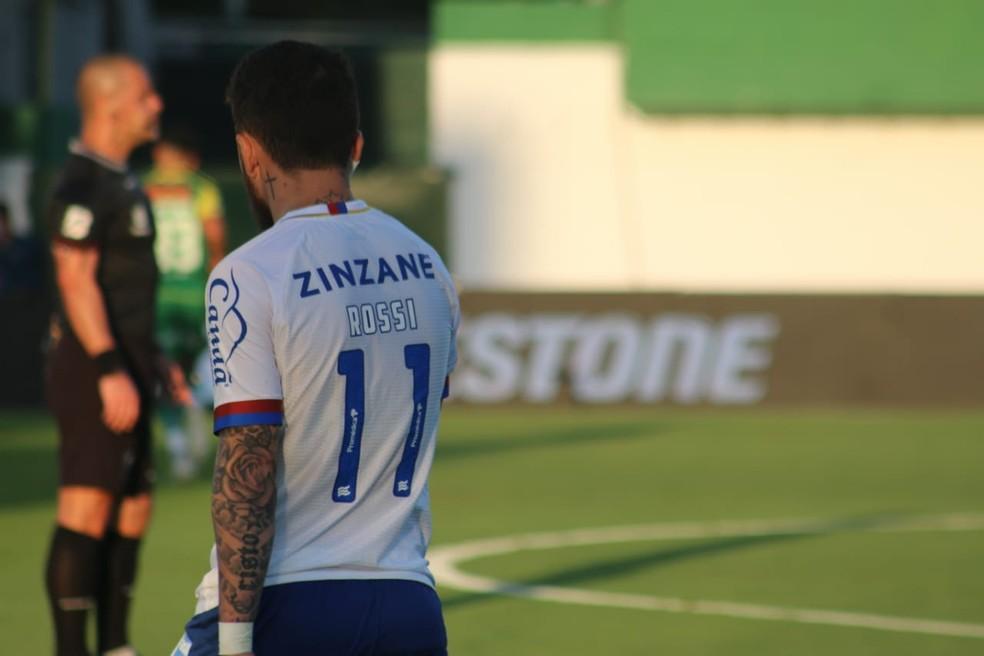 Rossi no jogo entre Bahia e Defensa y Justicia — Foto: Felipe Santana / Divulgação / EC Bahia