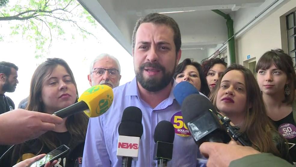 Guilherme Boulos, candidato do PSOL à presidência — Foto: GloboNews/Reprodução
