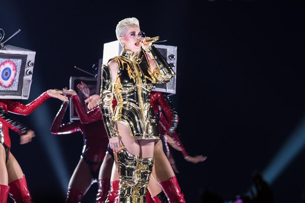 Katy Perry canta em São Paulo  (Foto: Celso Tavares/G1)
